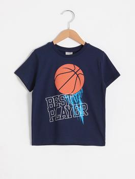 NAVY - Boy's Printed Cotton T-Shirt