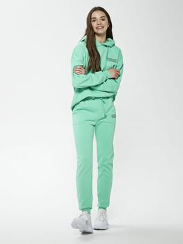 GREEN - Elastic Waist Printed Women's Tracksuit Bottoms