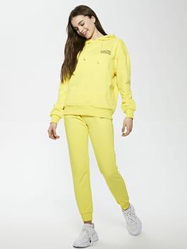 YELLOW - Elastic Waist Printed Women's Tracksuit Bottoms