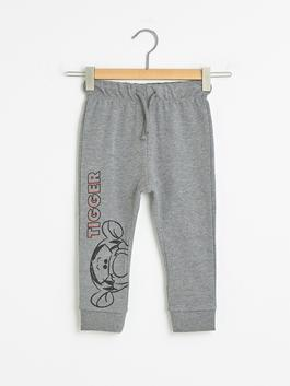 ANTHRACITE - Elastic Waist Winnie the Pooh Printed Baby Boy Jogger Tracksuit Bottom - S1CU44Z1
