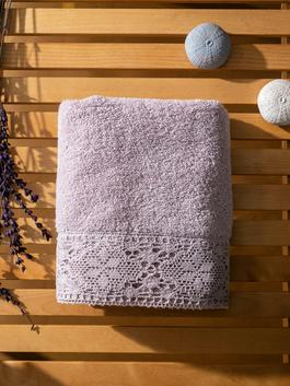 PINK - Lace Detailed Face Towel