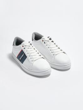 WHITE - Lace-Up Casual Men's Sports Shoes - S1BO44Z8