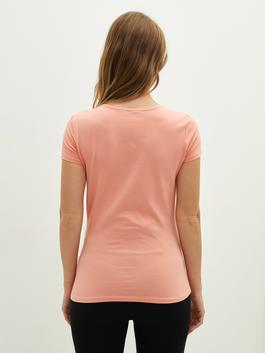 CORAL - Crew Neck Printed Short Sleeve Maternity T-Shirt - S1J168Z8
