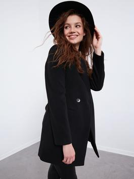 BLACK - XSIDE Stand Collar Thick Cachet Coat - 0WDD89Z8